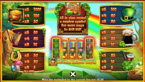 Screenshot of Slots O'gold pay table