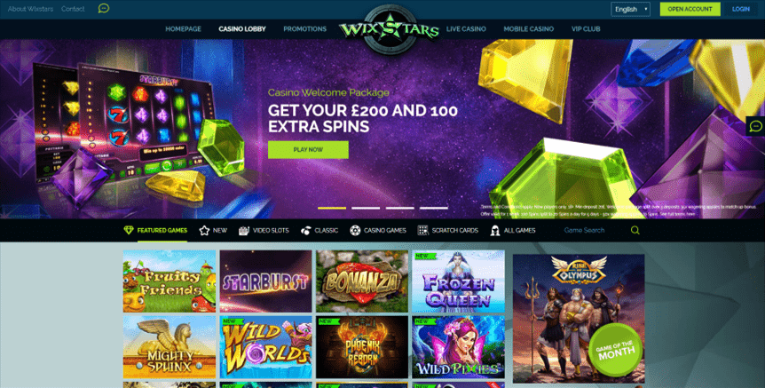 Wixstars Casino - Online Casino UK