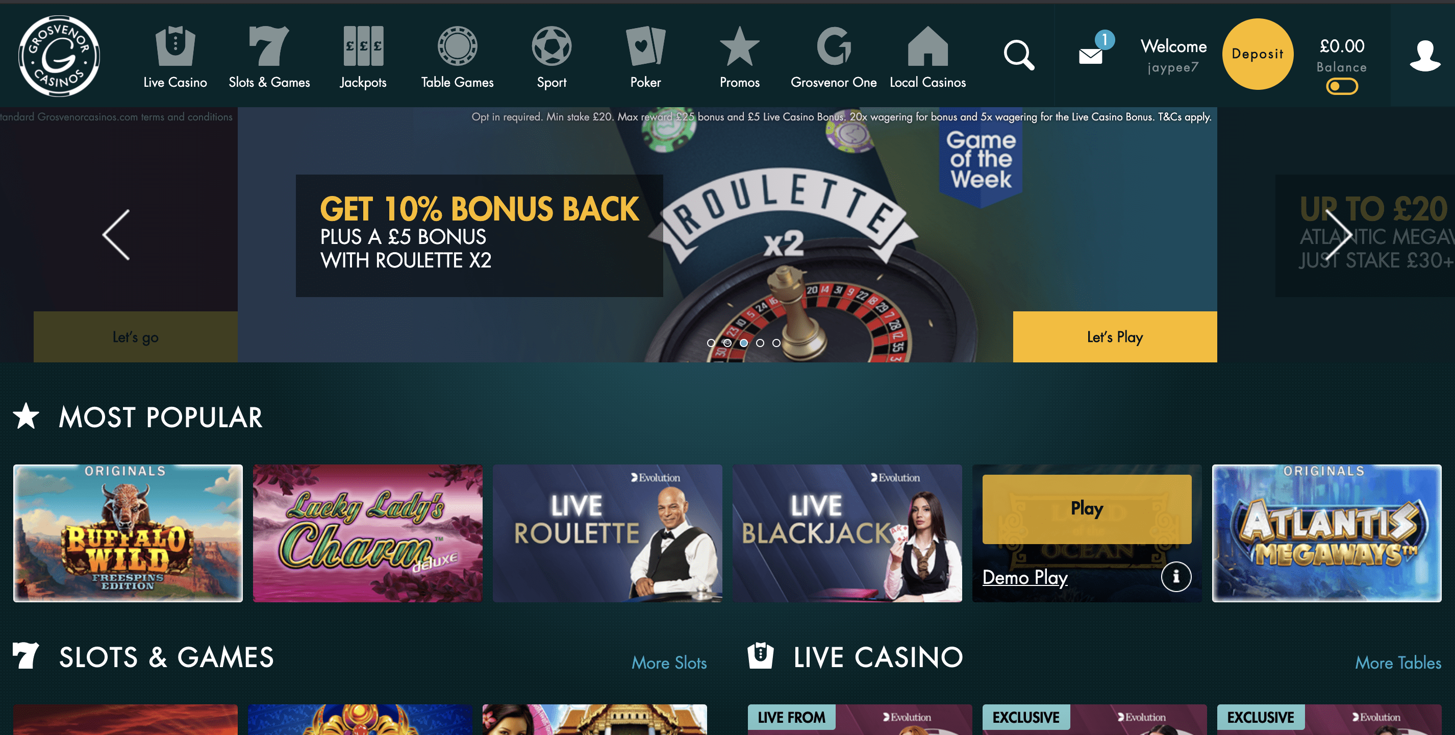 Grosvenor Casino - Online Casino UK